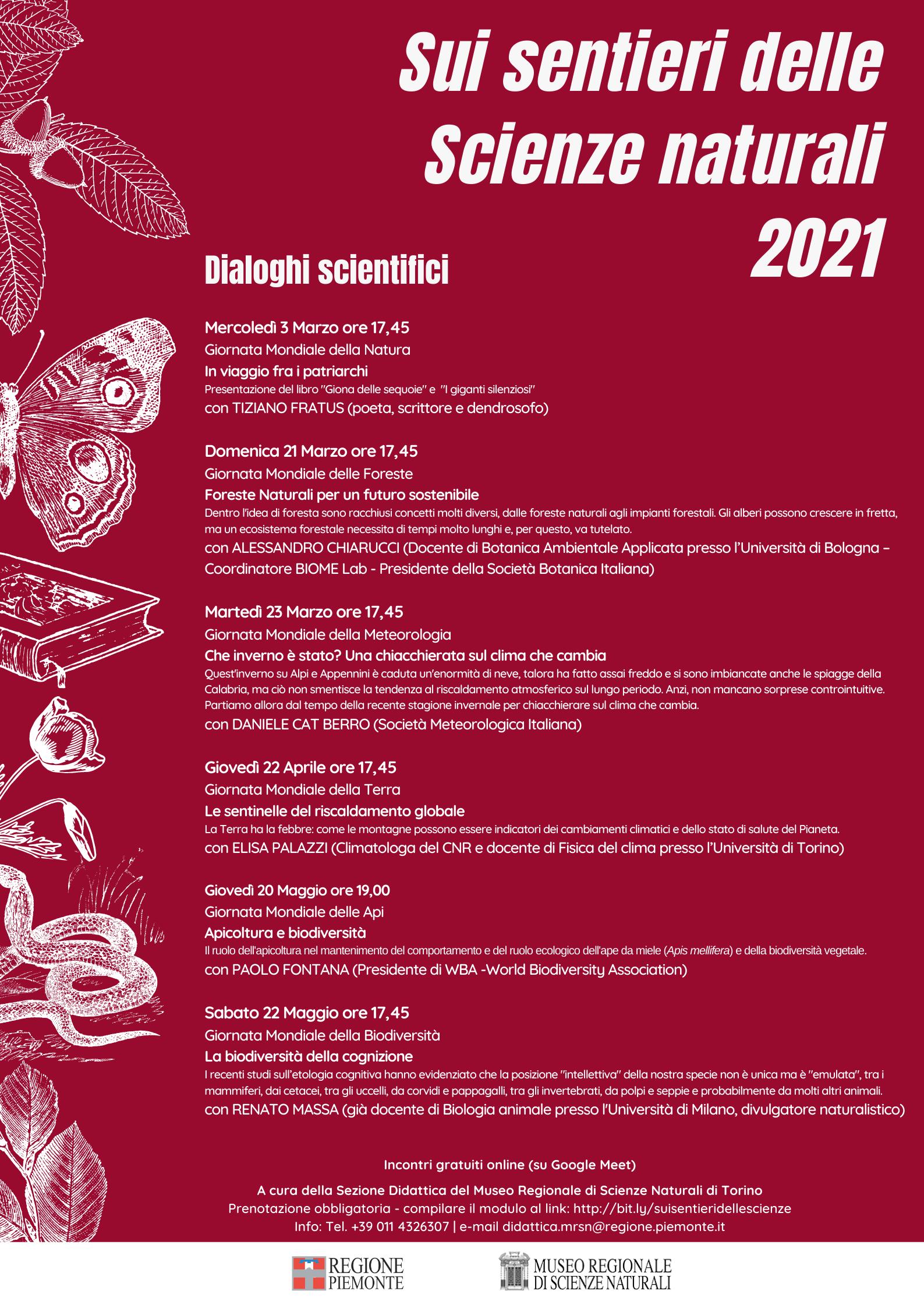 Sui sentieri delle scienze naturali 2021 Museo Regionale di scienze Naturali di Torino