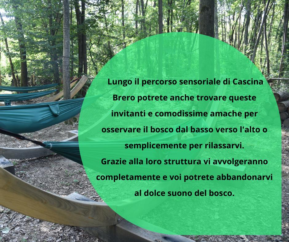 Zona relax del barefooting di Cascina Brero